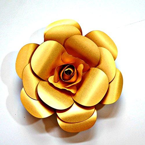 Paper Flowers Cardstock hand made Back drop photo prop DIY gold (Diy Flower Backdrop)