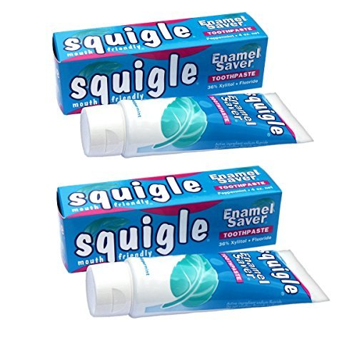 Squigle Canker Sore Toothpaste - Enamel Saver - Helps Prevent Canker Sores (2 - 4 OZ TUBES)