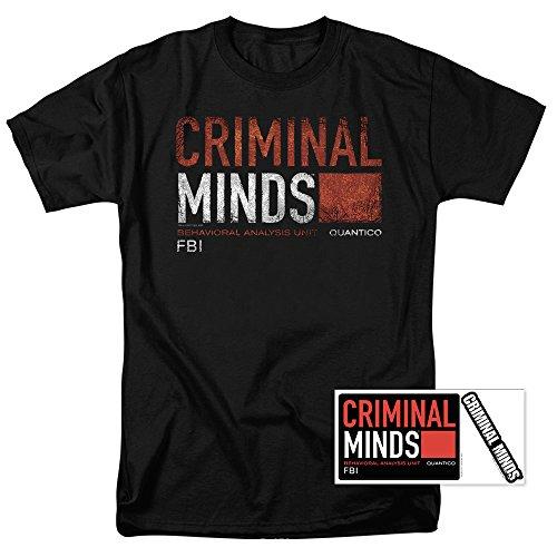 Popfunk Criminal Minds FBI CBS T Shirt & Exclusive Stickers (XX-Large)