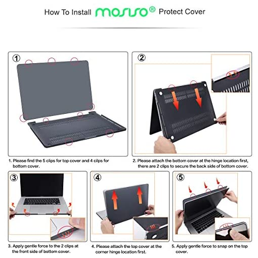 MOSISO MacBook Pro 16 inch Case 2019 Release A2141 with Touch Bar & Touch ID, Ultra Slim Protective Plastic Hard Shell Case Cover Compatible with MacBook Pro 16 inch, Midnight Green