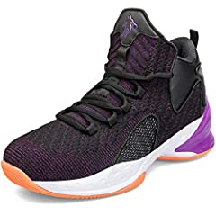 Information: Shoe Type: Basketball Shoes, Sports Shoes  Brand:BEITA Upper material: Knit Outsole material:Rubber Upper length: High Closure Type: Lace-up Optional colors: Black Red, Black Purple  Gender: Men, Boys Features: Anti-slip, wear re...