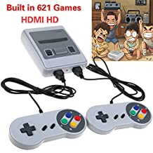 Nintendo Classic Mini Console: Super Nintendo Entertainment System2018 TV VIDEO GAMES CONSOLE, SMART HDMI CLASSIC BUILT IN 621 GAMES 2 CONTROLLER