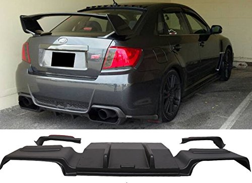 HT Autos UK. SUBARU STi WRX 2011 Sedan rear exhaust trims Black ABS Plastic