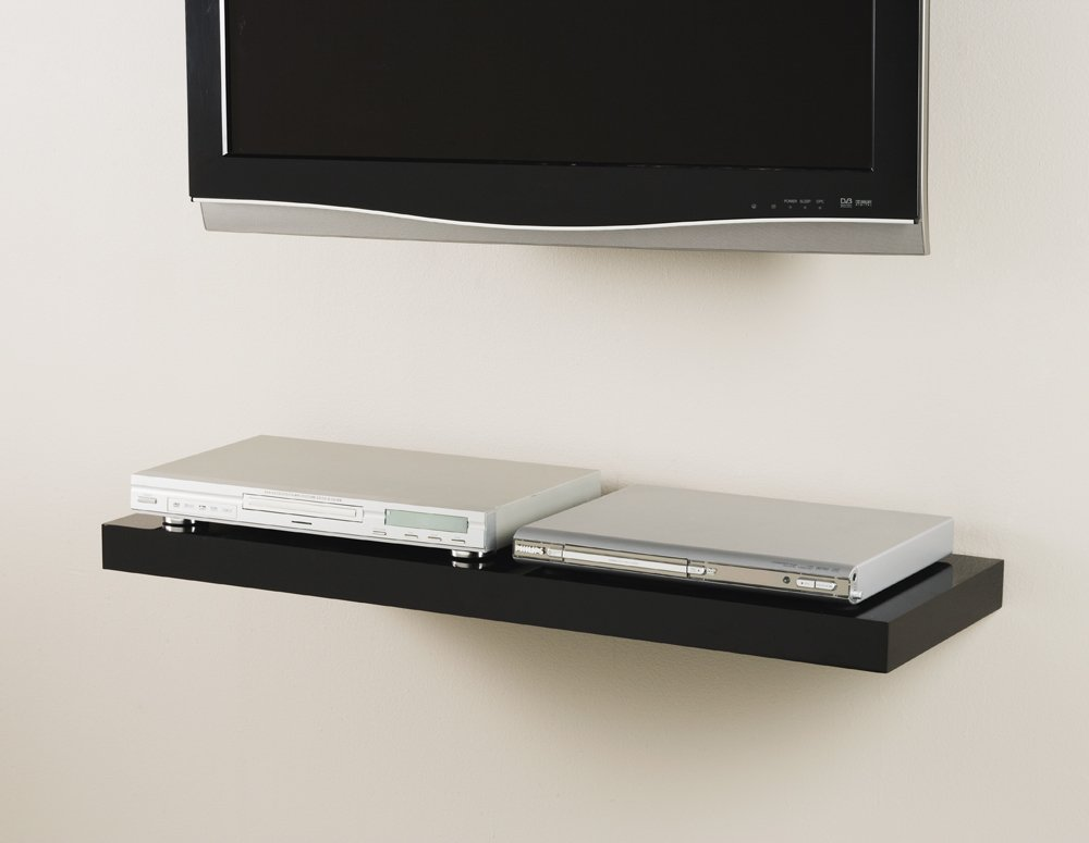 Gloss Black Floating Shelf Kit 900x300x50mm MasterShelf