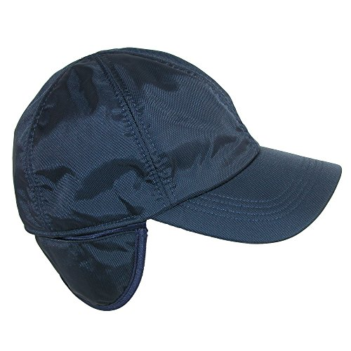 Wigens Men's Classic Nylon Baseball Cap with Faux Fur Lining and Earflaps, 59 by Wigens