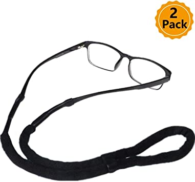 Black 5pcs Anti-slip Sports Eyegwear Holder Sunglasses Chains Cord Neckstrap