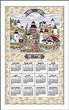 Kaydee F3292 Lighthouses of Maine Calendar Towel