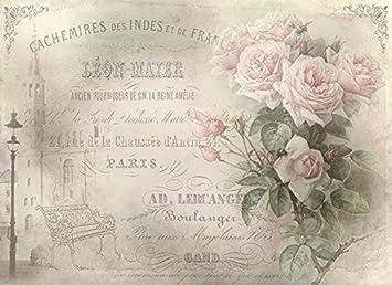 Strohseidenpapier Decoupage Papier Sommerblumen Reispapier A4 Motiv-Strohseide