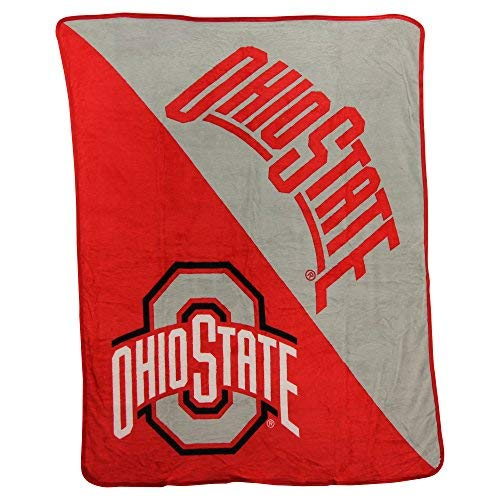 (The Northwest Company NCAA Collegiate Half Tone Super Soft Plush Throw Blanket (Ohio State Buckeyes) )