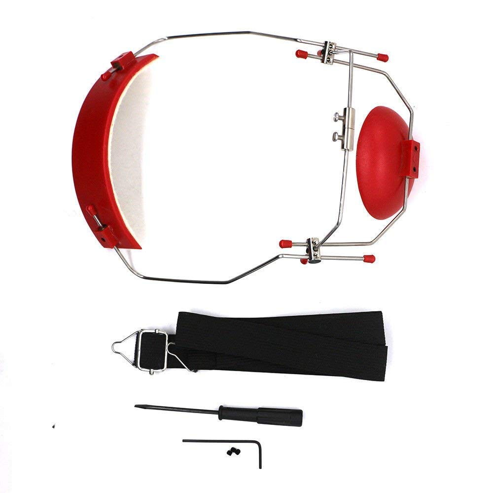 Dental Orthodontic Reverse-Pull Headgear Adjustable Red Color Bomaoer