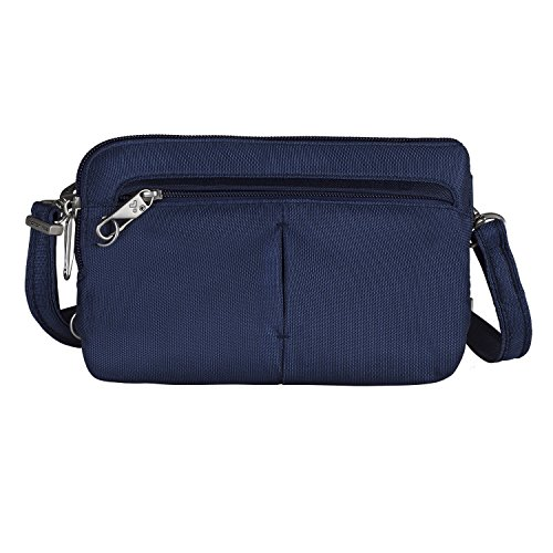 Travelon Anti-Theft Classic Convertible Crossbody and Waistpack (Blue - Exclusive Color)