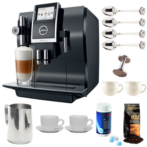 Jura 13752 Impressa Z9 One Touch TFT Coffee Machine + Stainless Steel 18/8 Gauge 20 oz Frothing Pitcher + Accessory Kit
