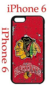 Chicago Blackhawks iphone 6 4.7 Case Hard Silicone Case