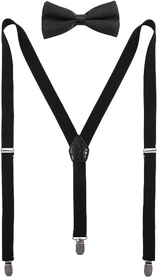 CEAJOO Boys Suspenders and Bow Tie Set Adjustable