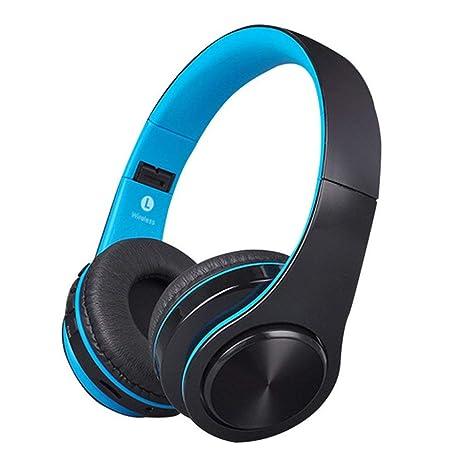 Auricular inalámbrico Bluetooth,Auriculares estéreo de Alta fidelidad Plegables Sobre la Oreja, Orejeras Ajustadas