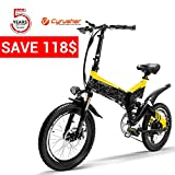 Cyrusher G650 10.4AH/12.8 Folding Electric City Bike Full Suspension 7 Speeds 500W