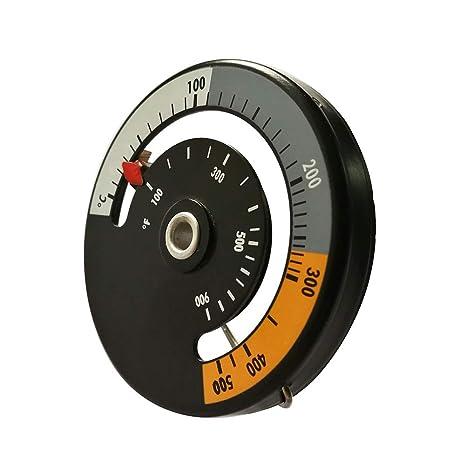 Gracorgzjs - Termómetro para Estufa de aleación de Aluminio para Horno, Barbacoa, medidor de