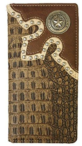 Wallet Western W039 36 Crocodile Brown