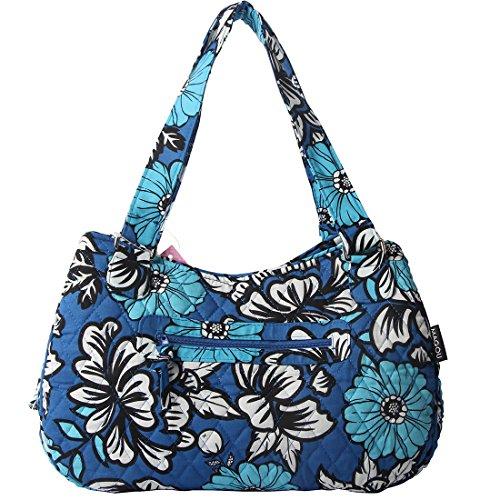 Quilted Cotton Handle Bags Shoulder Bag (Blue ()