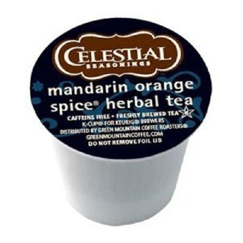 Celestial Seasonings Mandarin Orange Spice Herbal Tea, K-Cup Portion Pack for Keurig K-Cup Brewers, 24-Count (Pack of 2) (Keurig Orange Spice Tea compare prices)