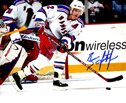 Brian Leetch Signed 8x10 Photo - New York Rangers Brian Leetch signed 8x10 photo