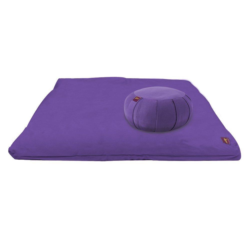 Yogavni(TM) Yoga and Meditation Kit (Purple Zabuton & Purple Zafu) Basics Hardware