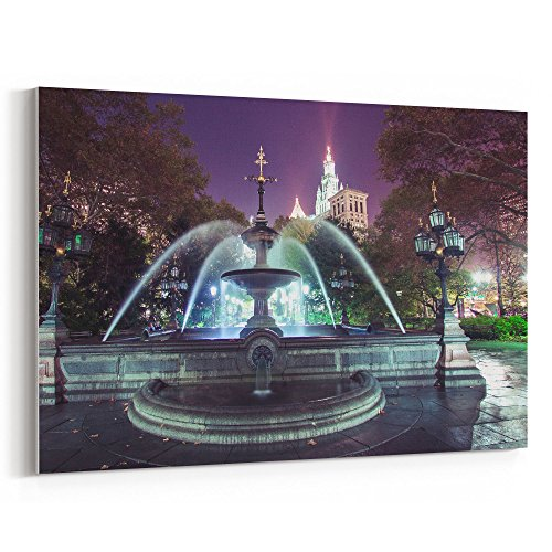 Westlake Art - Cityhall Longexposure - 12x18 Canvas Print Wall Art - Canvas Stretched Gallery Wrap Modern Picture Photography Artwork - Ready to Hang 12x18 Inch ()
