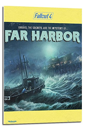 Fallout 4 The Mystery Of Far Harbor Poster Float Mounted - 9