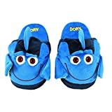 Stompeez Animated Dory Plush Slippers - Ultra Soft and Fuzzy - Fins Flap and Flutter as You Walk - Large