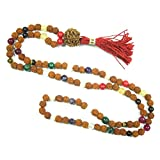 Meditation Yoga Healing mala Beads Navaratan Rudraksha Prayer Rosary Necklace