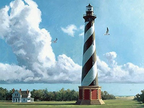 Heritage Puzzle New Morning Cape Hatteras Light 550 Piece Jigsaw Puzzle