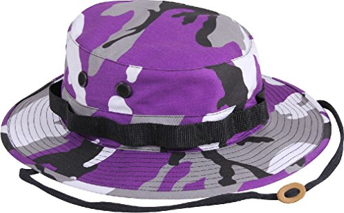 Camouflage Military Wide Brim Bucket Camping Hunting Boonie Hat (Bag Tri Color Sport)