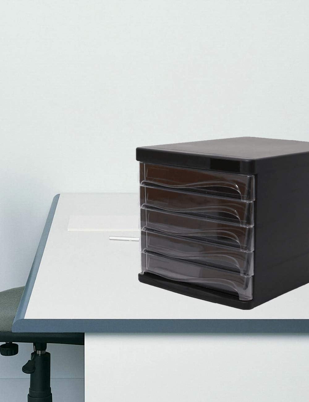 File Cabinets Office Desktop Cabinet 5 Drawers 35.526.525.7cm Color : A cm Plastic Safety Cabinet File Storage Cabinet Storage Box Home Office Furniture