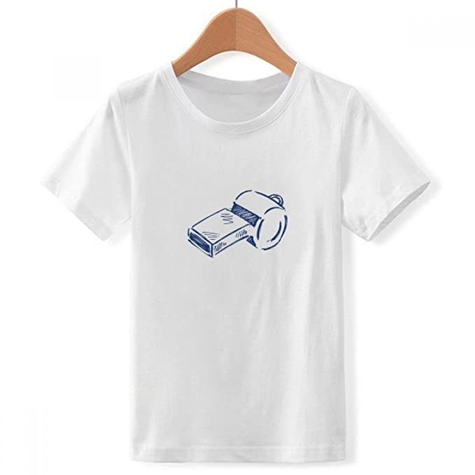 DIYthinker Silbato de fútbol de Dibujos Animados de fútbol con Cuello Redondo de la Camiseta para Chico: Amazon.es: Ropa y accesorios