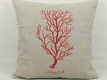 18 nueva algodón lino decoración sofá de Coral manta funda ...