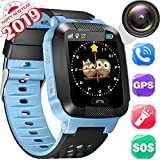 Kids Smartwatch, Waterproof GPS Tracker, Camera Watch, Water-Resistant Smartwatches Phone, with AGPS/LBS Locator Voice Chat Games for Back to School Children Age 3-14 Boys Girls