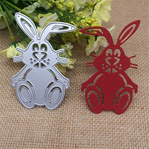 - Rabbit Cutting Dies - 1 Piece Jump Rabbit Easter Bunny Album Metal Cutting Dies Stencil Scrapbooking Photo Album Card Paper Embossing Craft DIY
