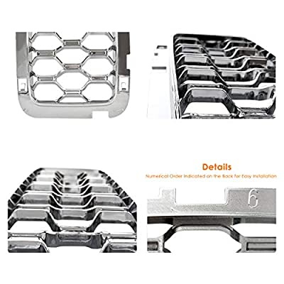 Latest Honeycomb Chrome Front Grill Inserts Fits Jeep Grand Cherokee 2020-2020 7PC Silver: Automotive