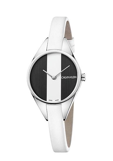 Calvin Klein Reloj Analógico para Mujer de Cuarzo con Correa en Cuero K8P231L1: Amazon.es: Relojes