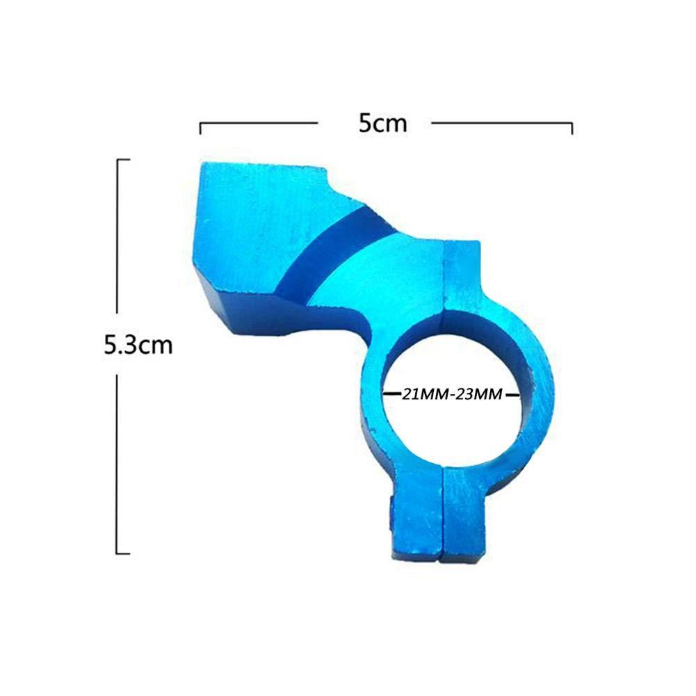 Teabelle 2 Unids 22mm 7//8Manillar Moto ATV Soporte de Montaje de Espejo Retrovisor Adaptador Soporte Tornillo de Sujeci/ón CNC Dorado