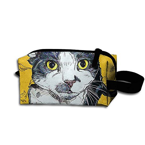 Makeup Cosmetic Bag Pet Pop Art Zip Travel Portable Storage Pouch For Men Women
