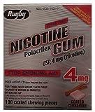 Rugby Nicotine Polacrilex Gum USP, 4mg (Nicotine_ Stop Smoking Aid 4...