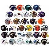 "NFL FOOTBALL SET of 32 TEAM 2"" VENDING HELMETS - NFL Football Team 2"" Vending Helmets Featuring Packers, Dolphins, Titans, Broncos, Buccaneers, Bills, Bears, Falcons, Vikings, Panthers and More"