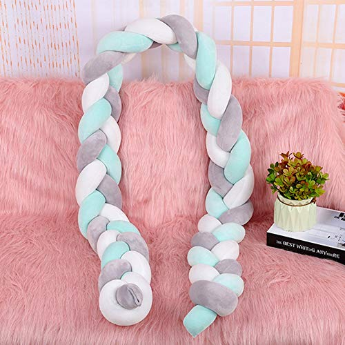 4Size Colored Nordic Long Knotted Braid Pillow Cotton Knots Cushion Decorative Sofa Pillow Baby Bumper Crib Bed Protector Kids Room Decor