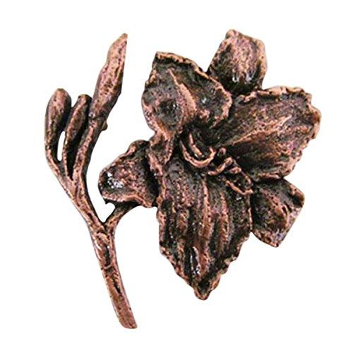 Cuivre ~ Hémérocalle ~ Pin's (épinglette/Broche ~ AC126