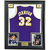 Magic Johnson Purple Jersey Autographed