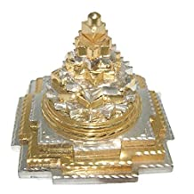 Divya Mantra Meruprushtha Shree Yantra In Gold And Silver Finish