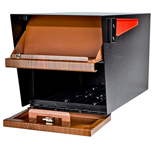 Mail Boss Curbside 7510 Mail Manager Locking Security Mailbox, Wood Grain, Black Powder Coat by Mail Boss (Image #6)