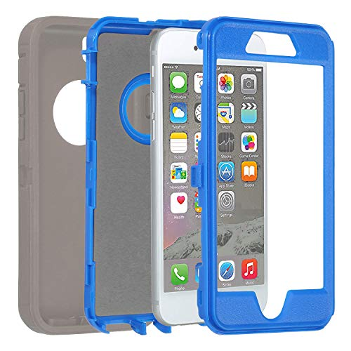 Annymall Case Compatible for iPhone 8 & iPhone 7, Heavy Duty [with Kickstand] [Built-in Screen Protector] Tough 4 in1…