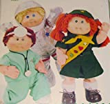 Cabbage Patch Kids Career Outfits, Butterick 3728 Sewing Pattern, Vintage, Girl Scout, Astronaut, Doctor, Dentist